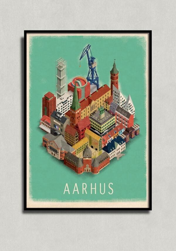 Aarhus plakat af Martin Schwartz