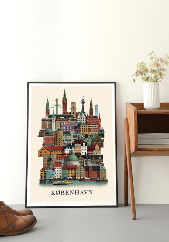 Copenhagen poster by Martin Schwartz