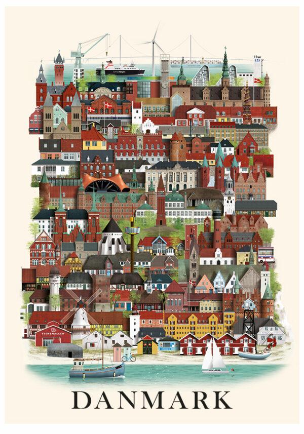 Danmarksplakat af Martin Schwartz