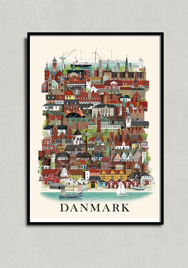 Danmark poster by Martin Schwartz