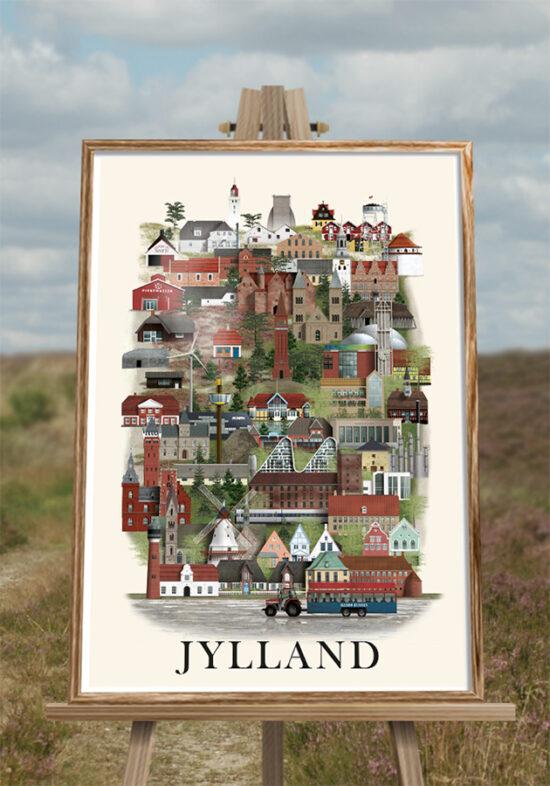 Jylland plakat af Martin Schwartz