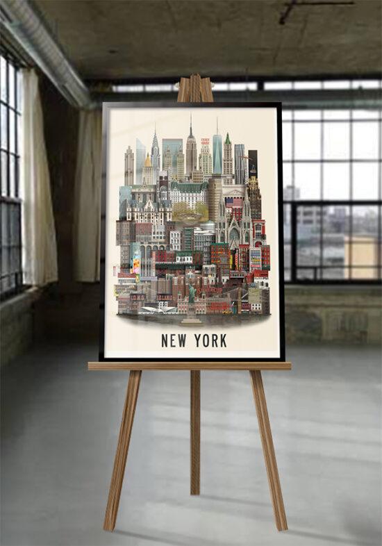 New York poster by Martin Schwartz