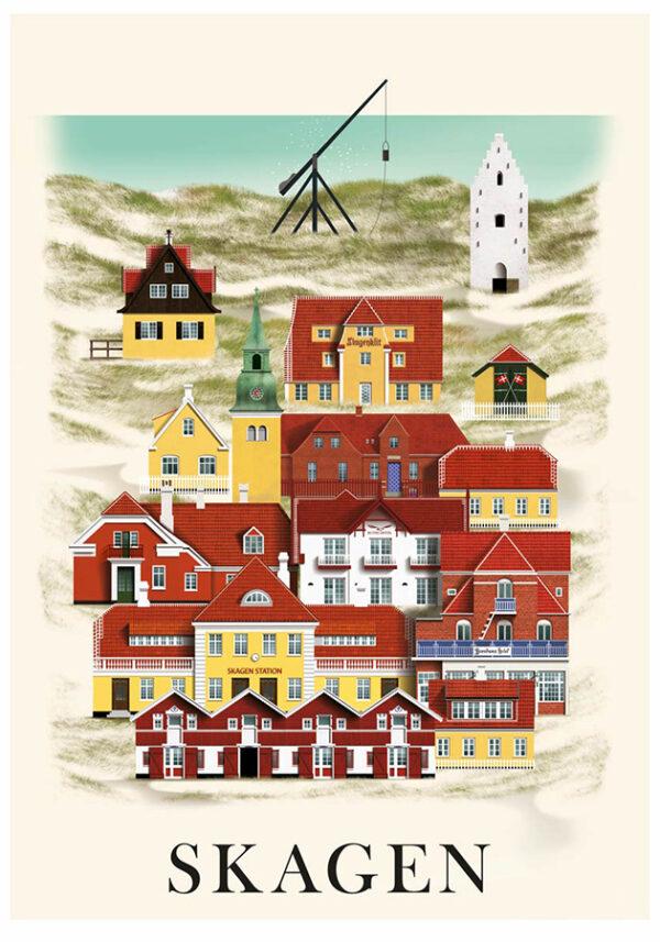 Skagen plakat af Martin Schwartz