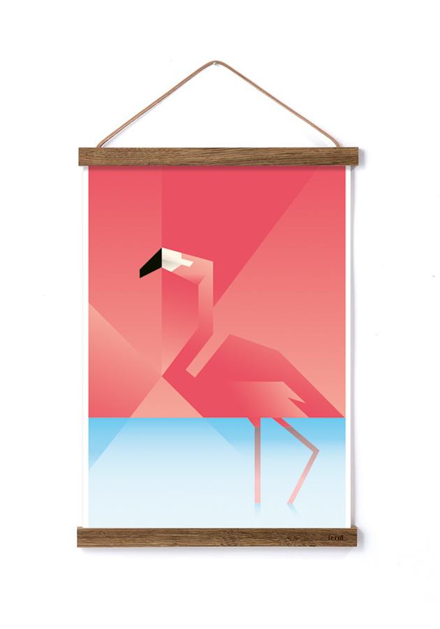 Flamingo plakat af MartinSchwartz