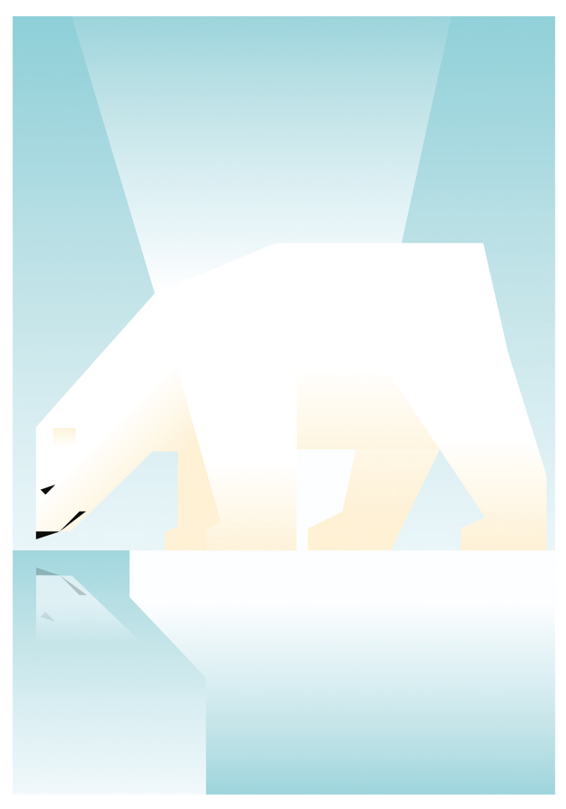 Polar Bear poster by Martin Schwartz