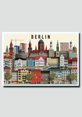 Berlin postcard by Martin Schwartz