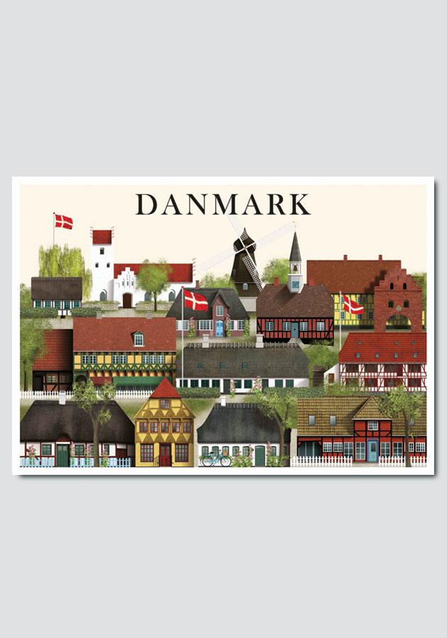 Danmark card by Martin Schwartz