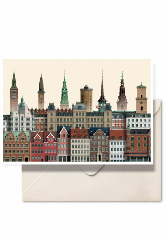 Copenhagen double card by Danish illustrator Martin Schwartz