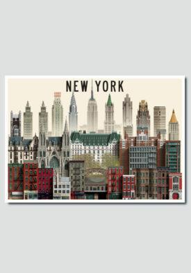 New York Card by Martin Schwartz