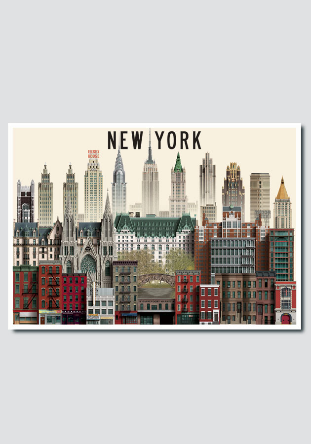 New York Card by Martin Schwartz
