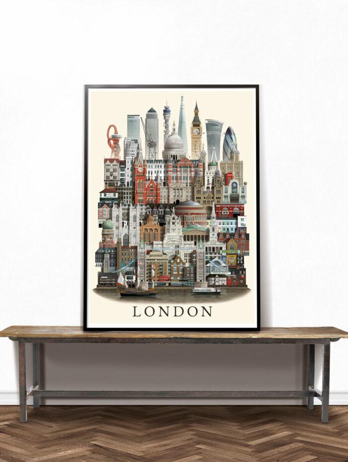 London poster by Martin Schwartz