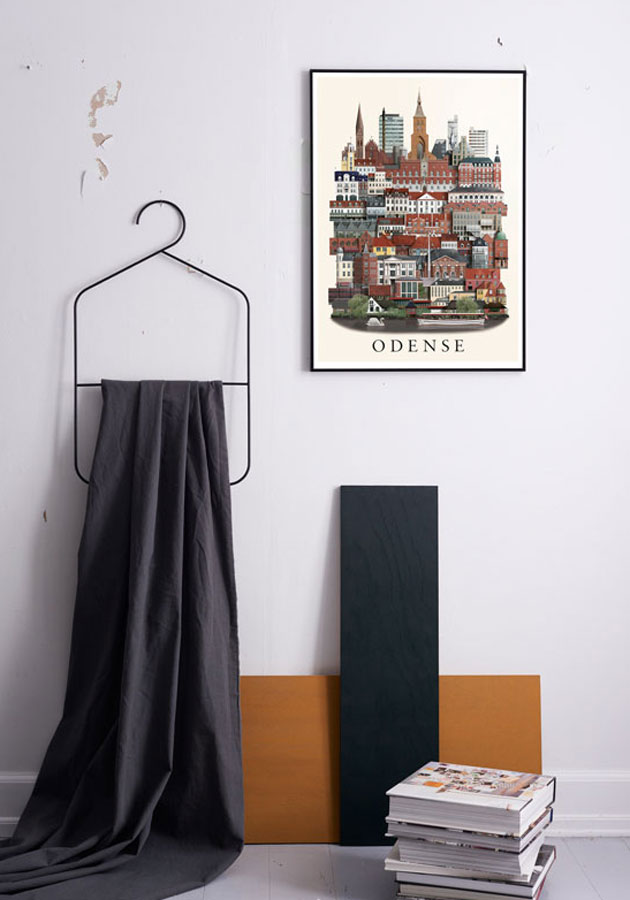 Odense poster by Martin Schwartz