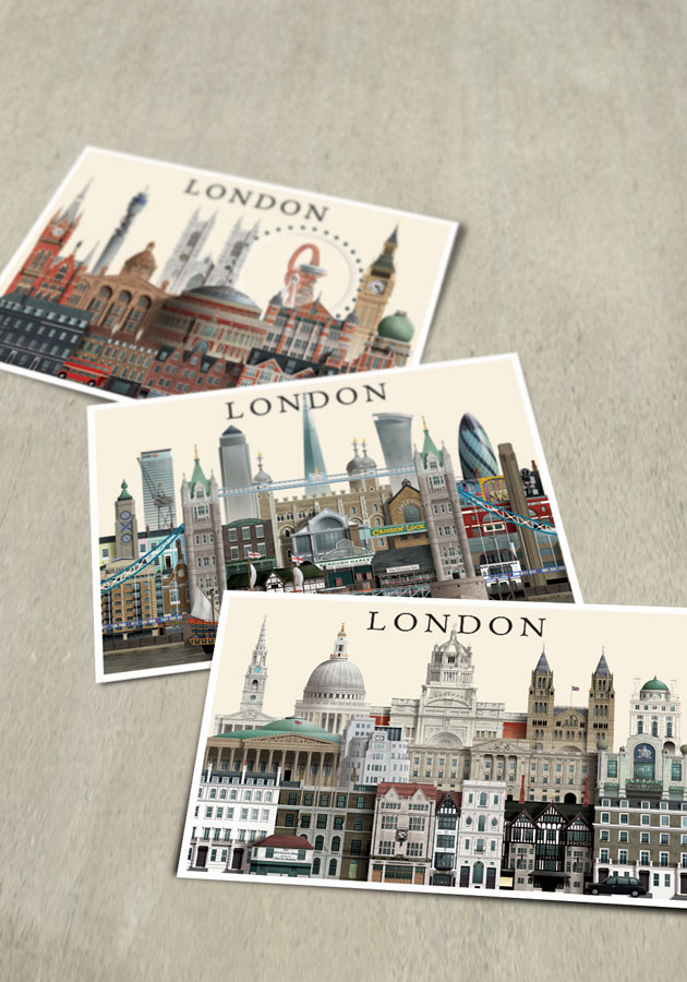 London cards by Martin Schwartz