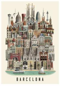 Barcelona poster by Martin Schwartz