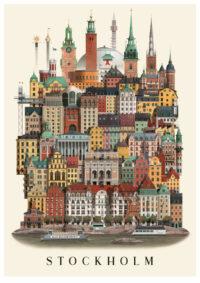 Stockholm poster by Martin Schwartz