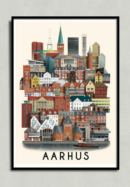 Aarhusplakat, aarhus poster, aarhus print