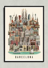Barcelona poster, Barcelona plakat, Barcelona print