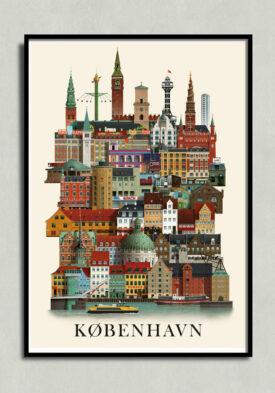 Københavnplakat, copenhagen poster, copenhagen print