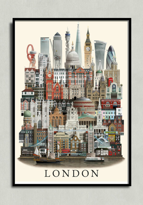 London poster, London plakat, London print