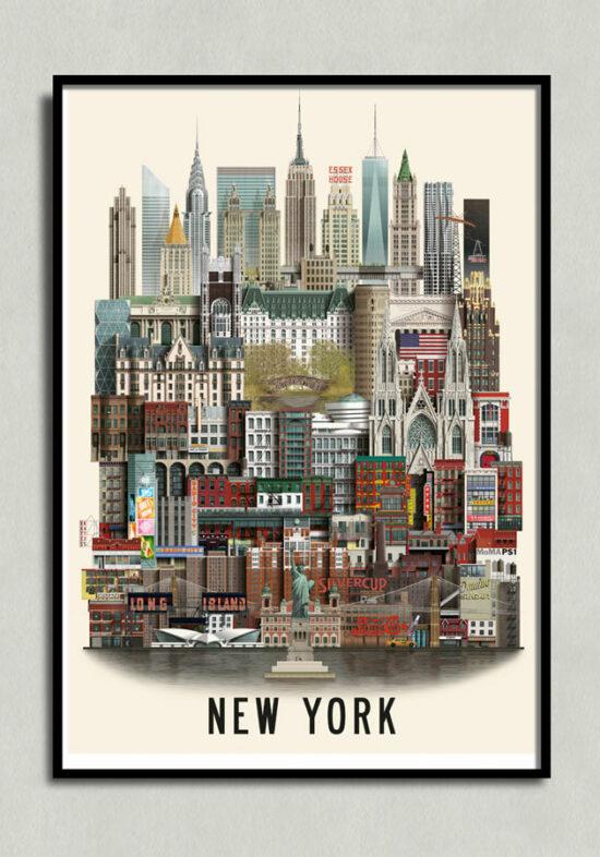 New York poster, New York plakat, New York print