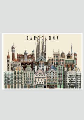 Barcelona card by Martin Schwartz