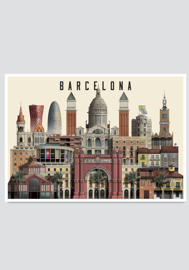 Barcelona card by Martin Schwartz