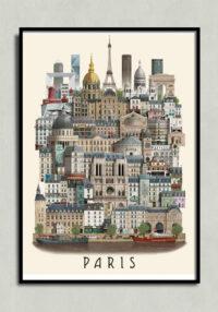 paris poster by Martin Schwartz