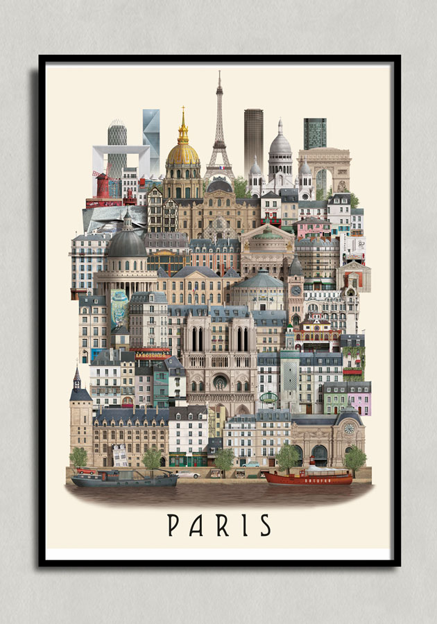 paris poster by Martin Schwartz