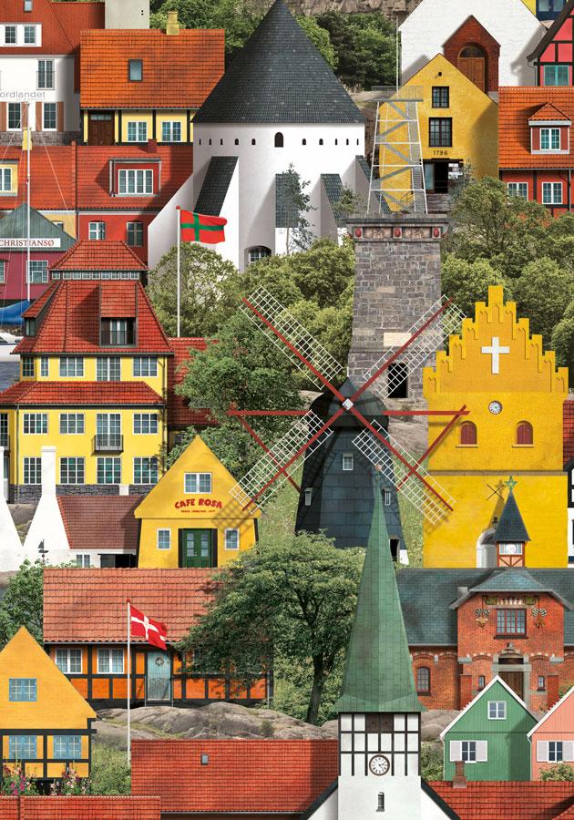 Bornholm plakat af Martin Schwartz