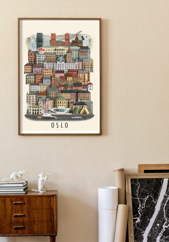 oslo poster by Martin Schwartz